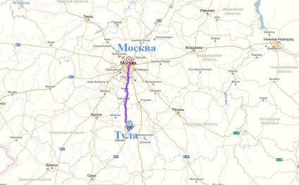 Маршрут грузоперевозки Москва